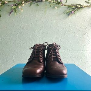 Vintage Brown Faux leather Booties